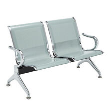 2-Seat Waiting Chairs Office Barber Bench Bank Room Airport Reception Chair
