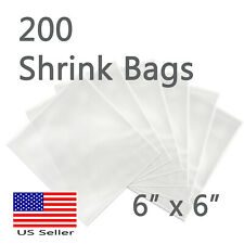 200 pcs SHRINK WRAP BAGS 6