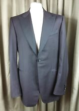 Trussini Super 100s Double Breasted Black Dinner Evening Suit 100s C42 W38 L34.5