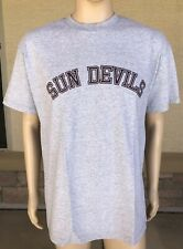 Vintage Arizona State Sun Devils T Shirt TLC Sportswear Size Large Gray