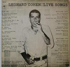 """LEONARD COHEN : LIVE CHANSONS (CBS S 62328) 12"""" LP (W 771)"""