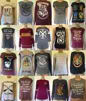 Harry Potter Women's Tshirt & Jumper Primark Gryffindor Slytherin Hogwarts