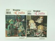 Simplicity Craft , Stuffed Doll/Cow with clothes #9798 & Dinosaurs #8203