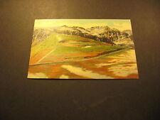 Switchbacks Near Top of Beartooth Plateau, Yellowstone, linen postcard, 1950