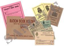 WW2 Home Front Document Set - (Exact Copies)