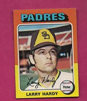 1975 TOPPS # 112 PADRES LARRY HARDY MINI ROOKIE  NRMT-MT  CARD (INV# A3913)