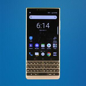 Good - BlackBerry Key2 BBF100-2 64GB - Black/Silver (GSM Unlocked) Free Shipping