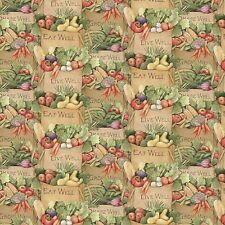 Carol's Corner Market Fresh Produce 100% cotton fabric by the yard