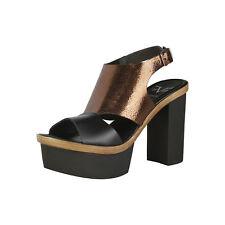 V 19.69 Damen Plateau Schuhe Pumps Sandaletten Bronze Gr. EUR 37 NEU