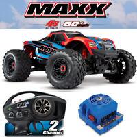 Traxxas 89076-4 1/10 MAXX Monster Truck 4WD Brushless RTR RedX w/ Radio / VXL-4S