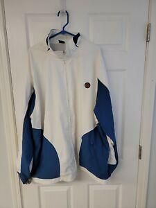 Nike Air Jordan Men's Long Sleeve full zip Jacket Blue And White 3XL