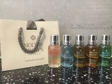 Molton Brown Mens Body Wash / Shower Gel / Gift Set 5 x 30ml Bottles - NEW