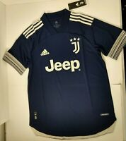 New Adidas Juventus 2020-21 Away Authentic Soccer Jersey FN1007 Blue $130 Sz L