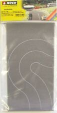 NOCH 60710 Self Adhesive Grey Road - Curved 66mm (2 Sheets) 00/H0 Model Railway