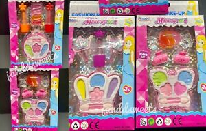3PACK Makeup Set Kids-Washable Lip Gloss Beauty Fashion Butterfly Clips Girls