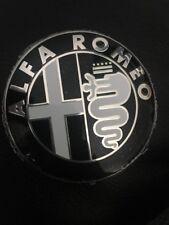 Alfa Romeo BLACK&WHITE Emblem Badge 147 156 159 Brera Mito Giulietta Front&Back