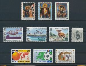 LO16350 Cyprus mixed thematics nice lot of good stamps MNH