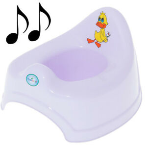 Potty Training - Musical Potty For Toddlers Easy To Clean - Duck (Purple)