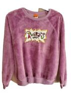 Nickelodeon Rugrats Fuzzy Sweater Purple Sequins Retro 1990s Size S New