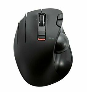 Elecom Mouse Trackball Wireless Left Hand For The 6 Button Black M-Xt4Dr/A1 Used