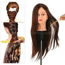 New 30% Real Human Hair Dummy Head Hairdressing Training Head Practice Tool J0A8