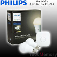 Philips Hue White A19 Starter Kit Warm White A60 E27 LED Bulb WiFi ZigBee 240V