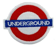 UNDERGROUND Tube Train Dance Music Embroidered Iron Sew On Jacket Badge Patch