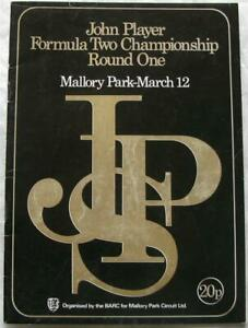 MALLORY PARK 12 Mar 1972 John Player Formula Two Championship Official Programme