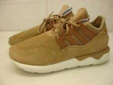 Adidas Men's 8.5 M Tubular Moc Runner Mocassin Khaki Running Shoes B25786 Suede