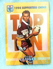 1994 SERIES 2  BRISBANE BRONCOS RUGBY LEAGUE GOLD CARD #2  ALLAN  LANGER