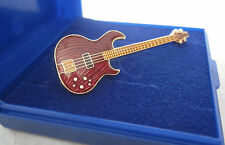 Electric Bass Guitar Lapel Pin Badge Brooch Music Gifts Present Aria GIFT BOXED