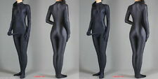 Full Body lycra spandex zentai Black costume suit With Penis---Wholesale Price