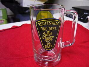 VINTAGE SCOTTSVILLE NY FIRE DEPT. MUG 1970's