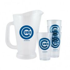 MLB Chicago Cubs Plastic Pitcher and Pint Glasses Set