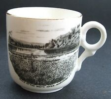 Antique WHITE RIVER FALLS souvenir HARTFORD VERMONT ceramic tea cup
