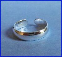Sterlingsilber (925) Verstellbar Ehering Zehring 4 mm Brandneu
