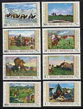 MONGOLIA 1969  PAINTINGS - CAMELS - HORSE STAMPS -  MINT COMPLETE SET OF 8 !