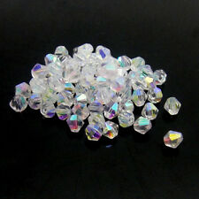 #5301 jewelry 3mm  Swarovski Crystal Bicone bead 1000pcs White AB