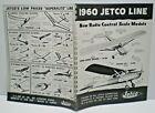 "1960 JETCO "" FLYING MODELS & BOATS"" double sided Dealer Sales Catalog L@@K!"