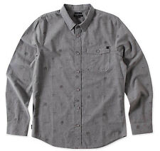 O'Neill TIMBER Mens Long Sleeve Button Up Shirt Grey Medium New