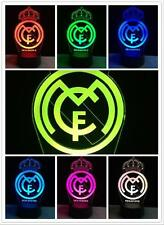2017 real madrid FCB Soccer Football 3D LED  7 color change Touch Lamp Kid Gifts