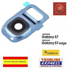 CUBIERTA LENTE CAMARA TRASERA AZUL CLARO SAMSUNG GALAXY S7 G930 S7 EDGE G935