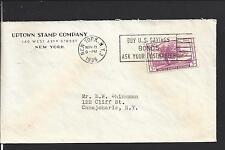 "NEW YORK,NEW YORK 1935 ADVT ""UPTOWN STAMP COMPANY. LABEL ON BACKFLAP."