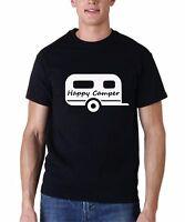 Men's Happy Camper #2 Shirt Camping Gear Summer Camp T-shirt Tee Short Sleeve