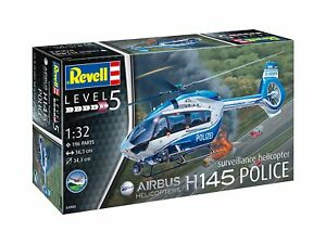 Airbus H145 Police Suveillance Helicopt, Revell Hélicoptère Kit 1:3 2, 04980