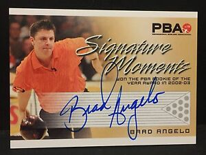 BRAD ANGELO 2008 Rittenhouse PBA Bowling AUTOGRAPH Signature Moments AUTO Card