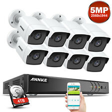 Annke 4K 8Mp 8Ch Dvr 5Mp Video Outdoor Security Camera System Home Surveillance