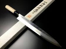 """Japanese Chef's Knife ARITSUGU Blue Steel Yanagi Sashimi 240mm 9.44"""" AT004s Saya"""
