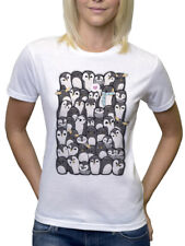 GROUP OF CUTE PENGUINS WITH LOVE T SHIRT DESIGN