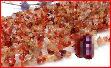 "16""L Red carnelianl Chips Gemstone Jewelry Beads 1 Strand"